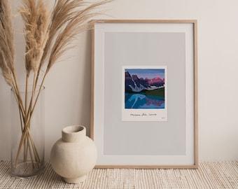 Moraine Lake Travel Print