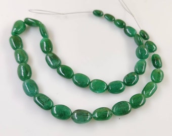 India AAA Quality Loose Beads 13 MM Smooth Gemstone Beads Beads USA Tumble green beads Light Green Natural Emerald Tumble Beads