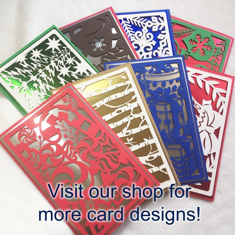 Metallic Silver Presents Christmas card christmas cards greeting cards holiday cards handmade card shiny christmas card gifts blue presents