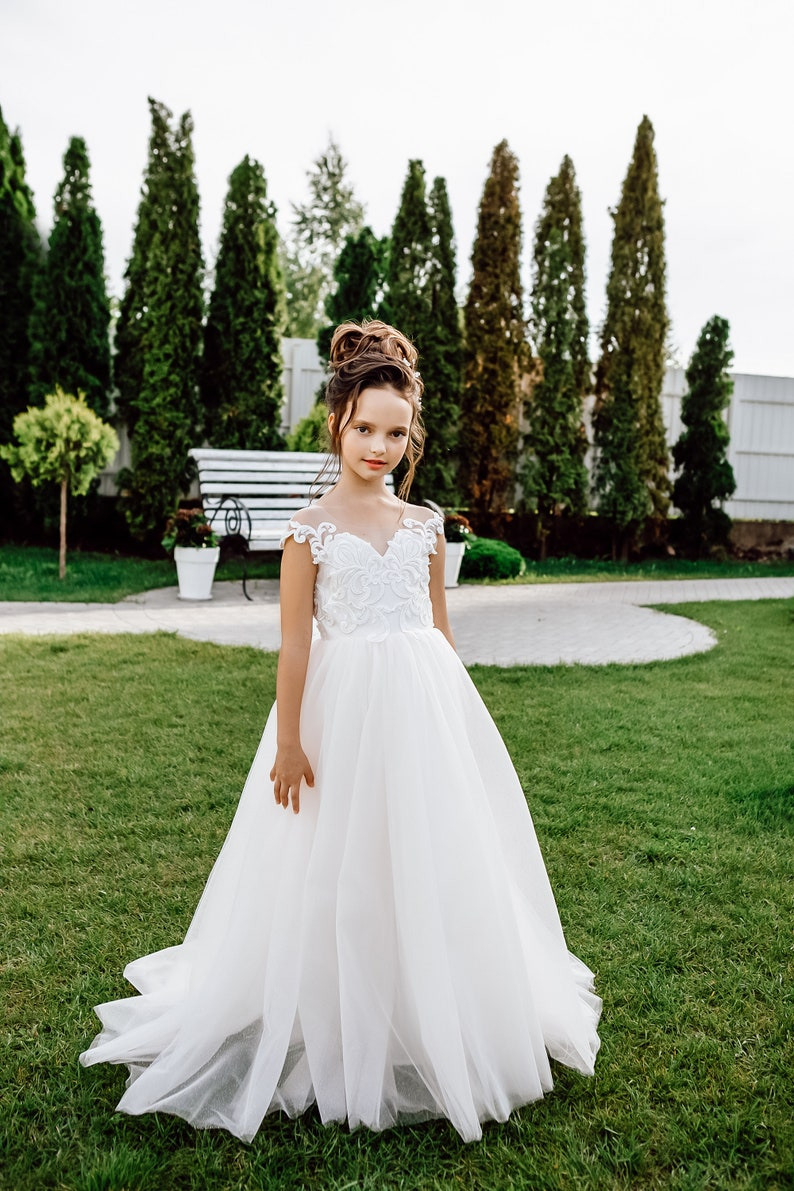 Tutu flower girl dress Flower girl dress toddler Flower girl dress Sleeveless flower girl dress Flower girl dress boho Lace girl dress