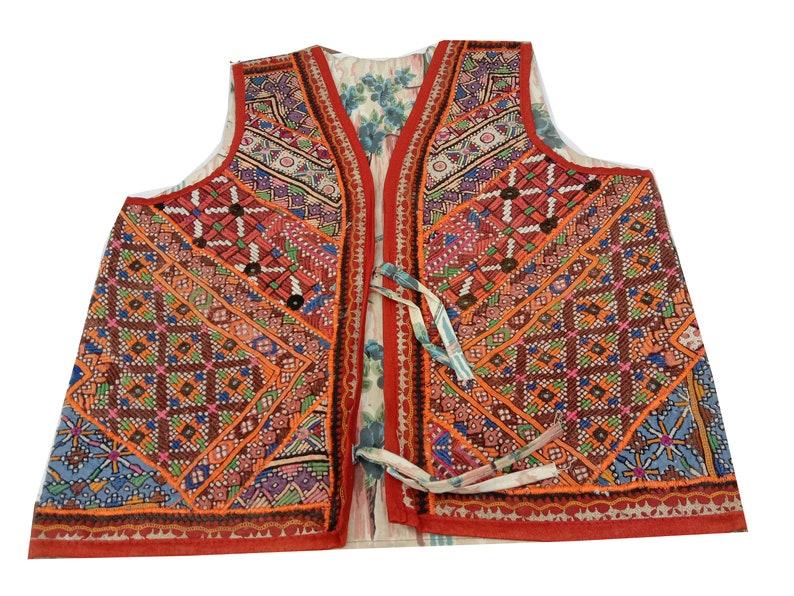 Boho Gypsy,Banjara Waist coat,Vintage tribal,mirror work Kutch bohemian Hippie Gypsy jacket Banjara Jacket,Gujarati Kutch Embroidery Jacket