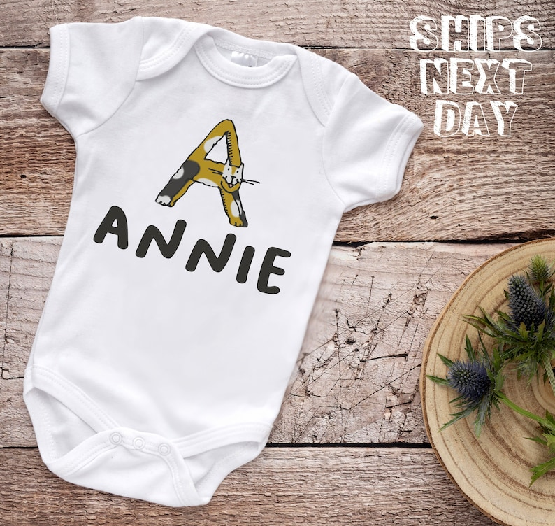 Personalized Name Kitty Baby Onesie