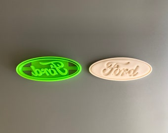Ford Logo Mustang Cookie Cutter Cupcake Topper Fondant Gingerbread Party