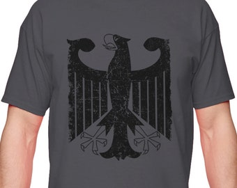 Coat of Arms Deutschland Oktoberfest Futbol Junior T-Shirt German Black Eagle