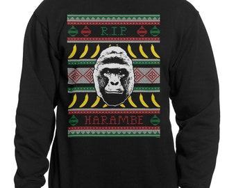 Harambe ugly sweater | Etsy