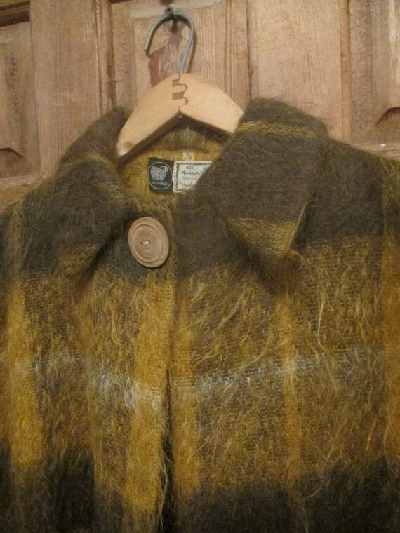 Medium / Large Vintage Scottish Woven Mohair/Wool