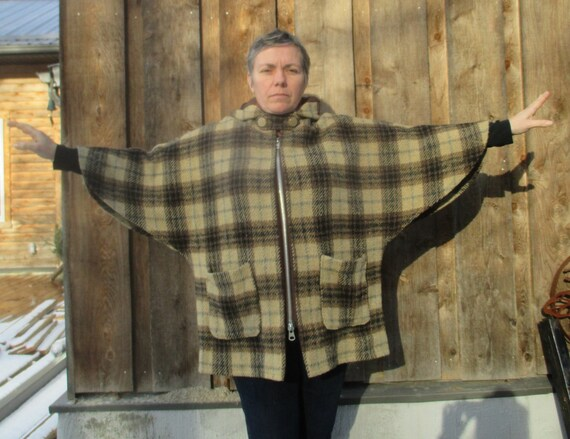 OOAK Batwing Coat Cape with Pockets and Hood - image 6