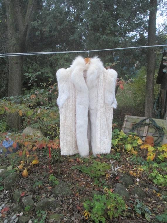 Luxurious Vintage White Fur Vest