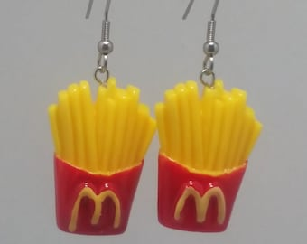 FUNKY TAKE AWAY EARRINGS CUTE KITSCH RETRO FAST FOOD CHINESE PENDANT CHARM SNACK
