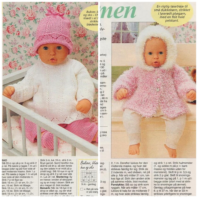 Chou baby born doll clothes sewing pattern and knit ...