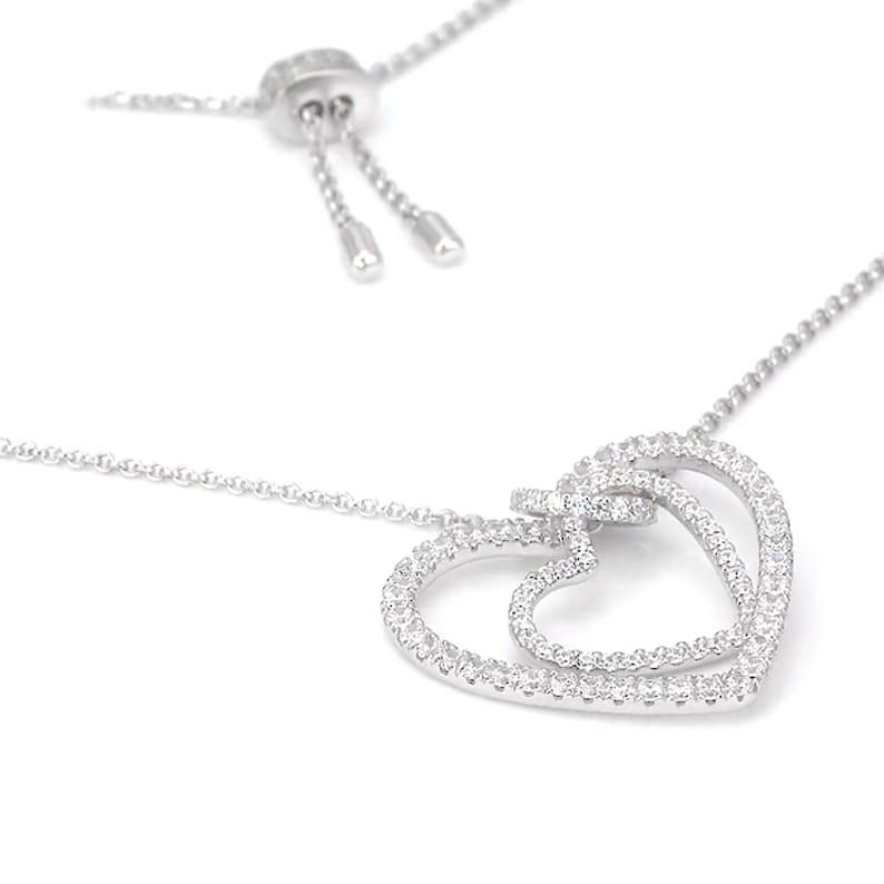 Monaco Luxury Necklace S925 Cubic Zirconia HEART Croisiere Collection