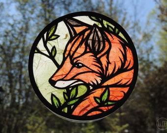 Customizable Fox Papercraft Suncatcher - Fox Magic