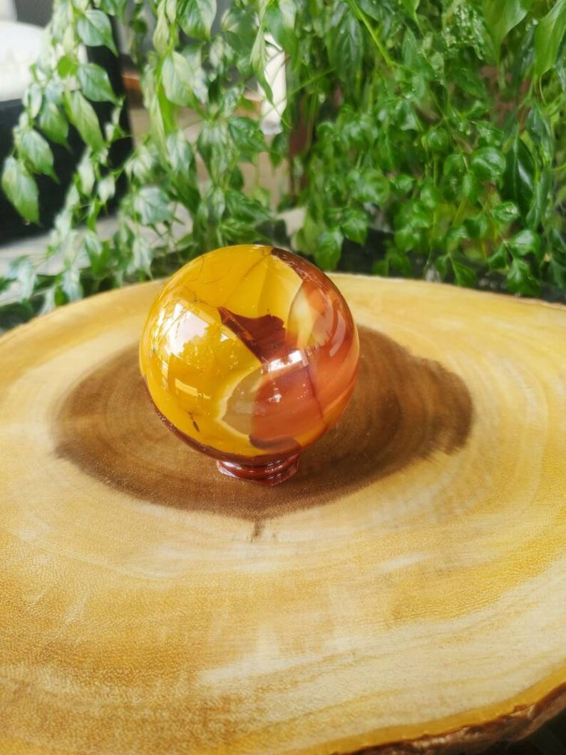 High Quality Mookaite Sphere with Sphere Stand