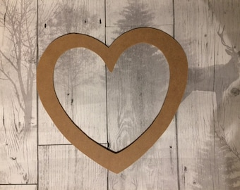 Free Standing Hearts 3 off 18mm MDF Craft Blank 50mm Valentines day