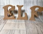 Freestanding E L F, elf lettering, elf crafts, Christmas craft blank letters