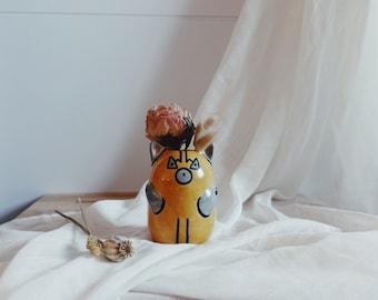 Cat Vase  - Luchador Vase - Fun Ceramics - Vase Céramique