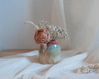 Geometric Sunset Vase - Ceramic Vase - Small Vase