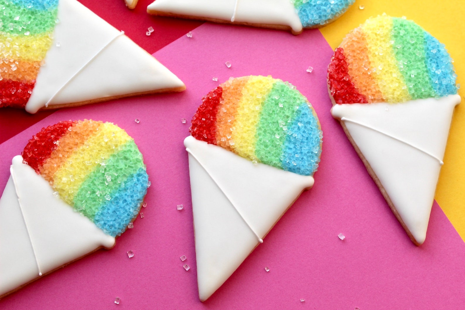 Snowcone Sugar Cookies