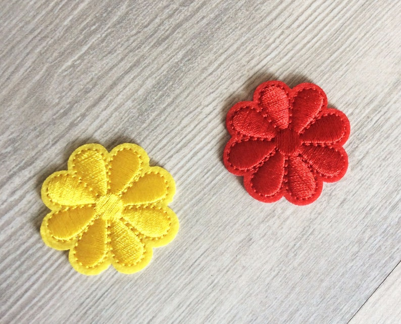 Embroidered IRON ON PATCH Flowers Trees Patches Tree Colorful flowers Decoration Embellishment Ornament Adornment Washable Iron on patches