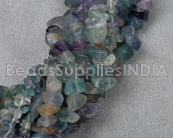 made from a vintage silverplate teaspoon Spoon Pendant with Fluorite Tumbled Chip Beads K0180
