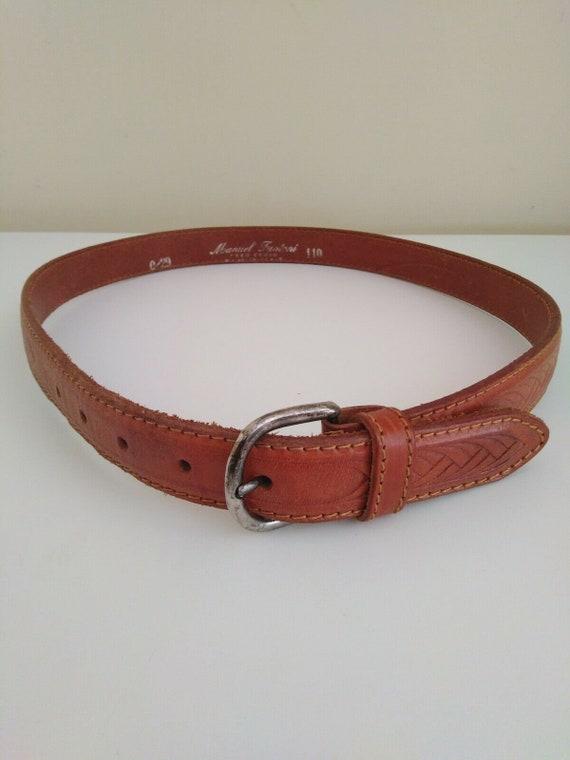 Men's Manuel Fantoni Real Italian Leather Belt Tan