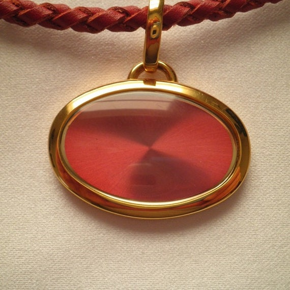 Joan Rivers Optic Red Leather Choker