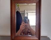 Mirror old wood