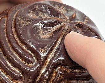 Ceramic Spherical God's Eye Finger Labyrinth- Medieval Cathedral Maze Game, Meditation Prayer Spiritual Art