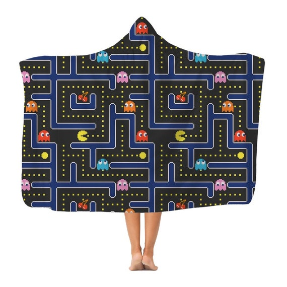 Pacman Classic Adult Hooded Blanket