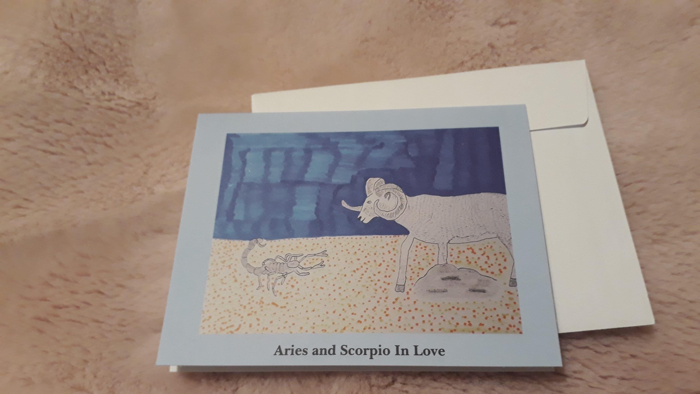 Widder und Skorpion in Liebe Karte/Widder Karte/Skorpion