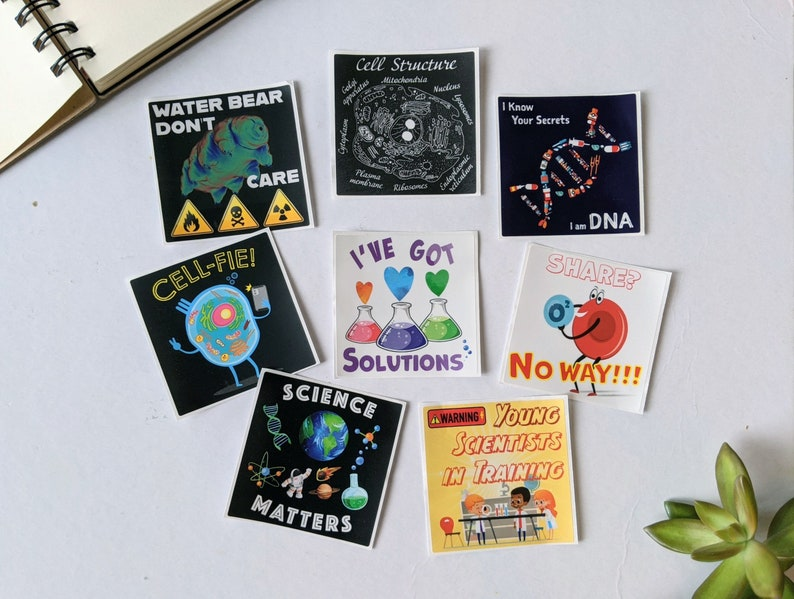 Science Pun Stickers Science Biology Cell Biology Hydro image 0