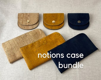 Knitting Notions Pouch Bundle - Gift Set for Knitters