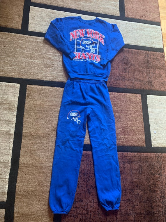 Vintage 90's New York Giants Kids XL Sweatsuit