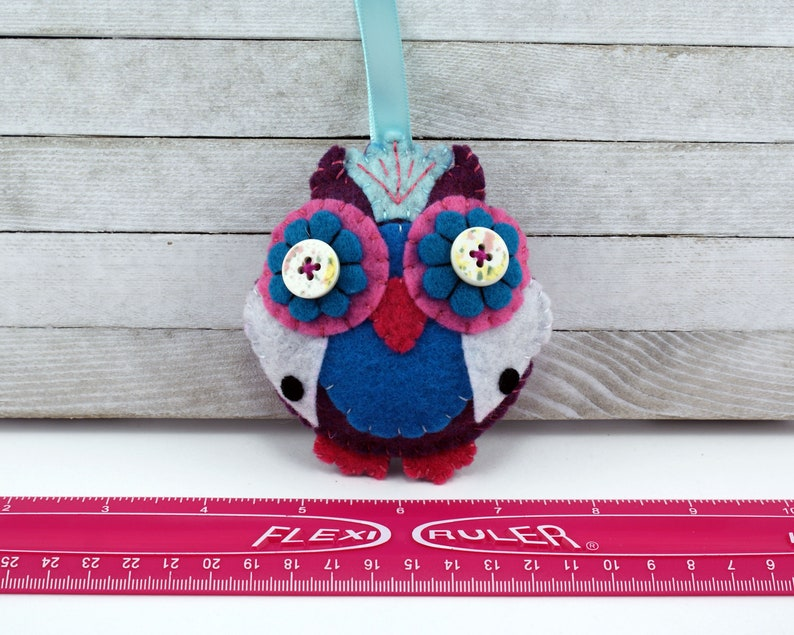 Owl Christmas Holiday Felt Ornament