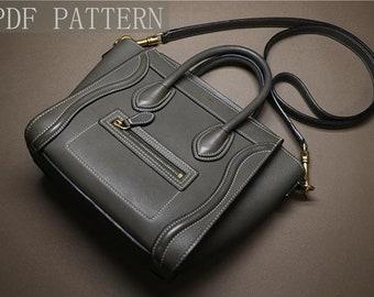 Leather Women Handbag pattern/diy gift/leather bag pattern/Saddle bag template/Leathercraft Pattern/PDF Pattern/DIY pattern No instruction