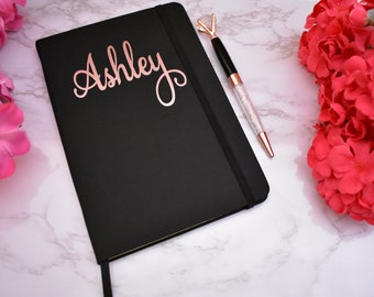 Personalized Notebook and Ink Pen Set, Custom A5 Journal Notebook, Journal Gift Set, Gift For Her, Bridal Party Gift, Graduation Gift