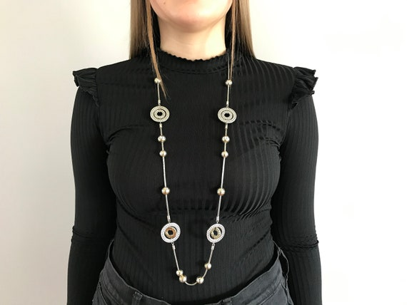 Brighton retired Two tone long necklace