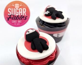 Ninjago cookies Cake topper Edible brick Sugar decorations Boy birthday Fondant Cupcake topper Party favor Vanilla Gingerbread cookie Gift