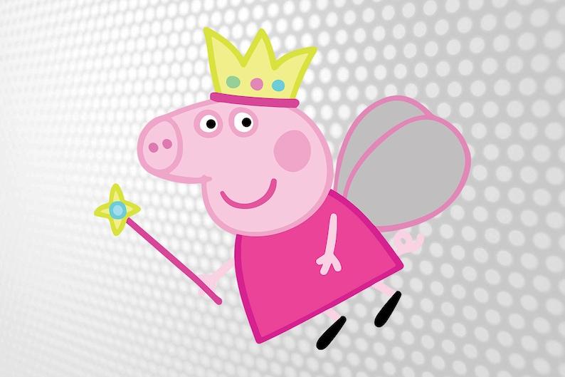 Peppa Pig Printable Peppa Pig Svg Peppa Pig Invitation Etsy