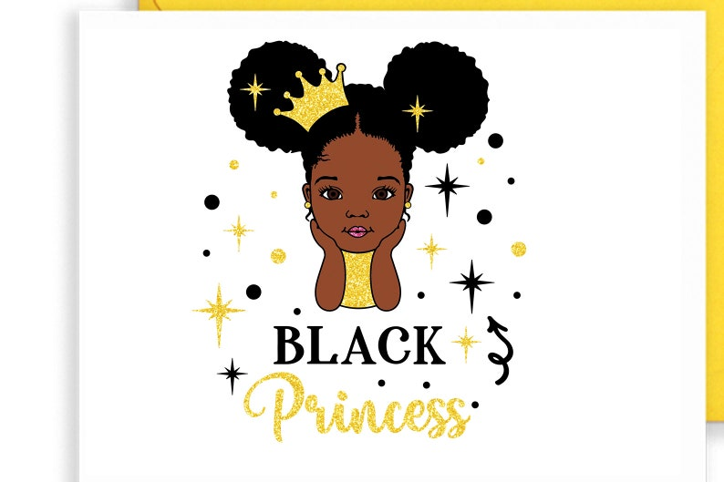 Black queen Svg Black princess Svg Afro puff Svg Cute girl Svg Princess Svg Afro girl Svg Afro with crown African American Png file