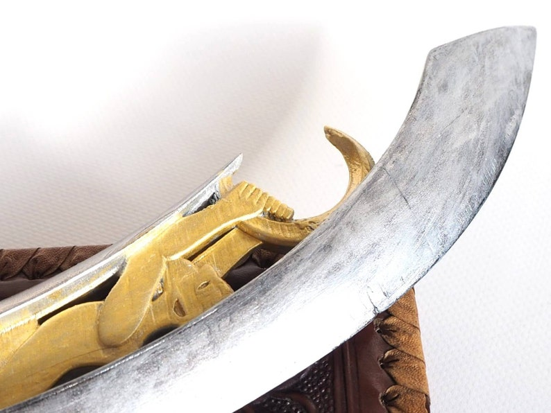 painted fantasy knife cosplay knife cosplay weapon home decoration Makonde dagger 3d printed office decoration dagger prop leather