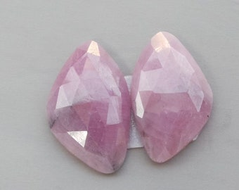 Exclusive Natural Pink Sapphire Faceted Pear Briolettes Gemstone 7X5To9X7 mm High Quality Sapphire Pear Beads US-791 30 Ct