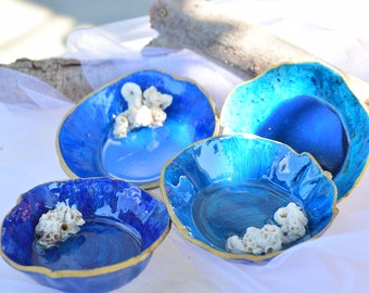 Mother/'s Day Birthday Gift Jewellery Bowl Forest Clay /& Epoxy Resin Decorative Bowl Home Deco Trinket dish