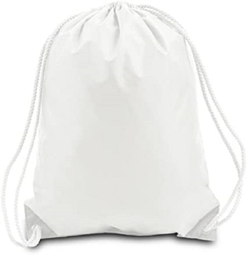 Custom Backpacks! Set of 5 String Bag in Natural Cotton,Cotton Backpacks,custom cotton backpacks,Black and white Backpacks,Cotton Backpacks