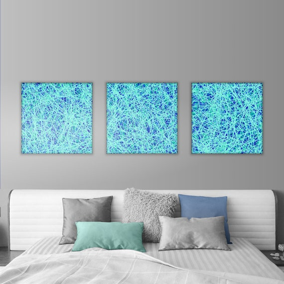 Wall Decor Artwork Abstract Turquoise Painting Art Abstract Abstract Art Abstract Artwork Wall Decor Above Bed Wall Decor Bedroom Barklem Art