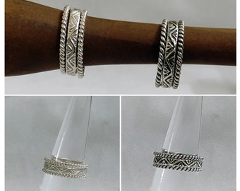 Valentine Gift For Her SET OF 4 Stacking Rings925 Sterling Silver Stacks Pinky And Thick Silver Stacks Shipping Free Anniversary Gift