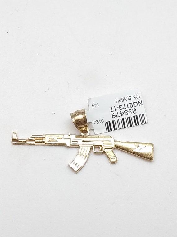 10k gold ak47 pendant