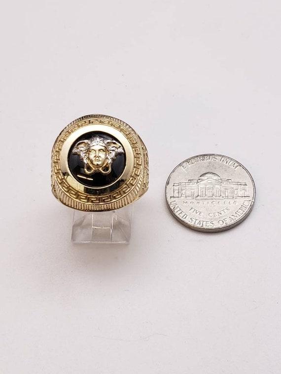 10k gold medusa ring