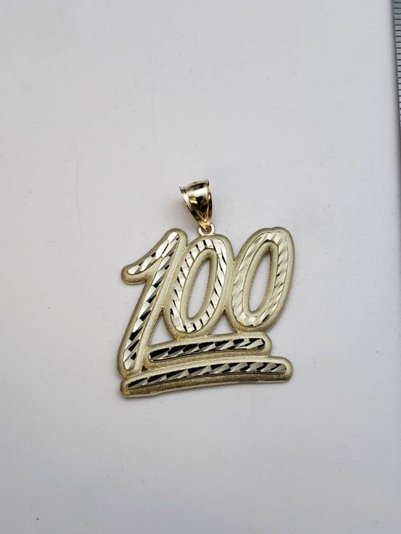 10k yellow gold 100 pendant