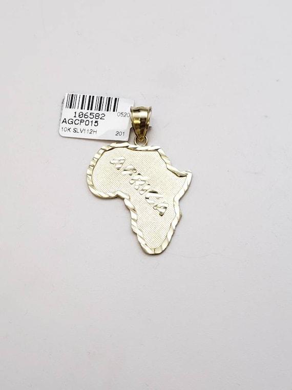 10k gold Africa pendant